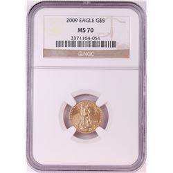 2009 $5 American Gold Eagle Coin NGC MS70