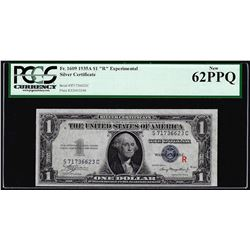 """1935A $1 """"R"""" Experimental Silver Certificate Note Fr.1609 PCGS New 62PPQ"""