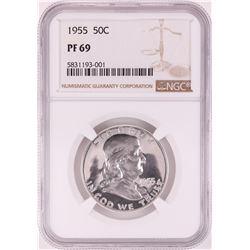 1955 Proof Franklin Half Dollar Coin NGC PF69