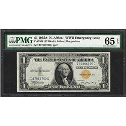 1935A $1 North Africa Silver Certificate WWII Emergency Note PMG Gem Unc. 65EPQ