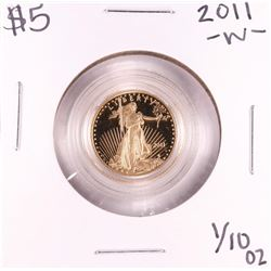 2011-W $5 Proof American Gold Eagle Coin