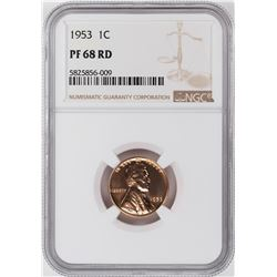 1953 Proof Lincoln Wheat Cent Coin NGC PF68RD