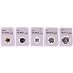 1958 (5) Coin Proof Set Graded NGC PF66