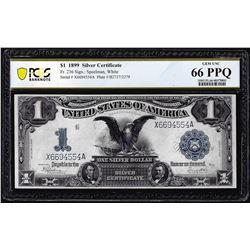 1899 $1 Black Eagle Silver Certificate Note Fr.236 PCGS Gem Uncirculated 66PPQ
