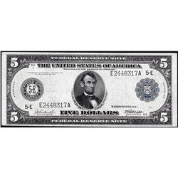1914 $5 Federal Reserve Note Richmond