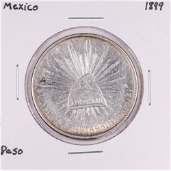1899 Mexico Un Pesos Silver Coin