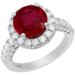 14k Yellow Gold 4.48ct Ruby 0.87ct Diamond Ring
