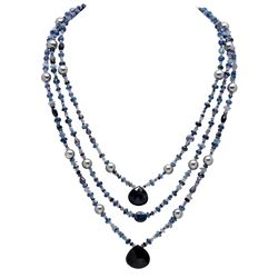 285.00ct Multi-Stone Three Strands Necklace