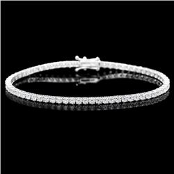 18K White Gold and 4.38ct Diamond Bracelet