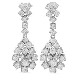 14K Gold 3.17ct Diamond Earrings