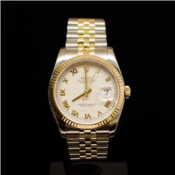 Rolex Two-Tone DateJust 36mm F Serial Men's Wristwatch