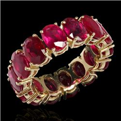 14K Yellow Gold 11.26ct Ruby Eternity Band Ring