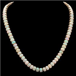 14k Yellow Gold 42.16ct Opal Necklace