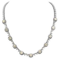 14k White Gold 6.05ct & 11.10ct Diamond Necklace