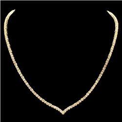 18K Yellow Gold 8.38ct Diamond Necklace