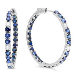 14K Gold 8.62ct Sapphire 0.86cts Diamond Earrings
