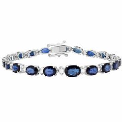 14k White Gold 13.30ct Sapphire 0.60ct Diamond Bracelet