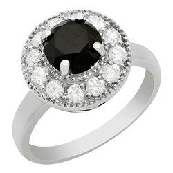 14k White Gold 1.59ct & 0.64ct Diamond Ring