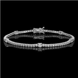 14k White Gold 3.12ct Diamond Bracelet