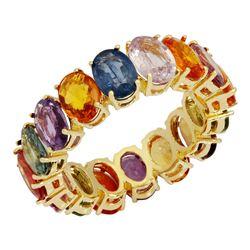 14k Yellow Gold 12.99ct Sapphire Ring