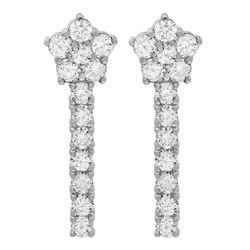 14k White Gold 1.89ct Diamond Earrings