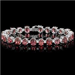 14K Gold 27.91ct Tourmaline 1.76ct Diamond Bracelet