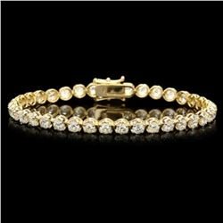 18K Gold 7.66ct Diamond Bracelet