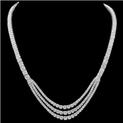 18K White Gold and 23.0ct Diamond Necklace