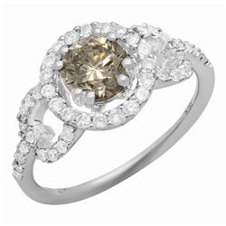 14k White Gold 1.00ct & 0.70ct Diamond Ring