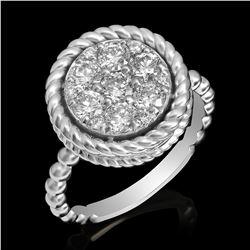 14k White Gold 1.09ct Diamond Ring