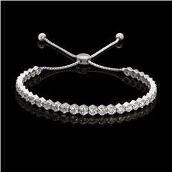 14K Gold 4.56ct Diamond Bracelet