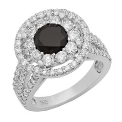 14k White Gold 1.12ct & 2.80ct Diamond Ring