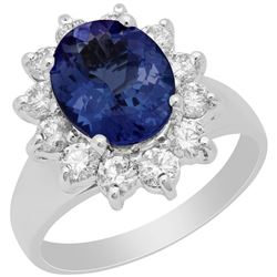 14k White Gold 2.42ct Tanzanite 0.93ct Diamond Ring