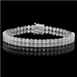 18K White Gold and 9.95ct Diamond Bracelet