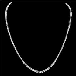 18K White Gold and 9.27ct Diamond Necklace