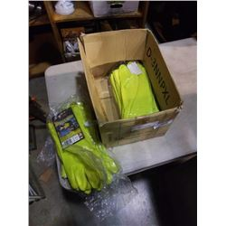 BOX OF NEW DURA GLO RUBBER GLOVES