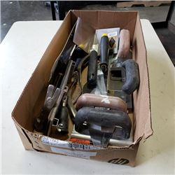 BOX OF GROUTING TOOLS