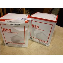 2 BOXES N95 RESPIRATORS NOT FOR MEDICAL USE