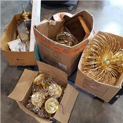 4 boxes of decorative lighting glassware