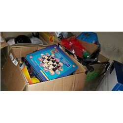 3 BOXES OF TOY CARS, GAMES, ESTATE GOODS