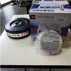 2 MARINE SPEAKERS AND SLANT 6 AIR CLEANER COVER