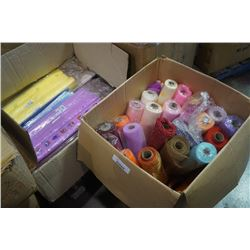2 BOXES FLOWER/WRAPPING MESH AND PAPER