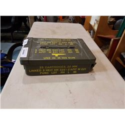 METAL AMMO CASE FOR 20MM CARTRIGES, FOR M139 GUN