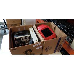 2 BOXES WELDING MASK, ELECTRONICS, ESTATE GOODS