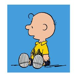 "Peanuts, ""Charlie Brown: Blue"" Hand Numbered Canvas (40""x44"") Limited Edition Fine Art Print with Ce"