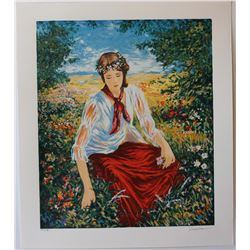 Igor Semeko- Original Serigraph on Paper  Peaceful Moments
