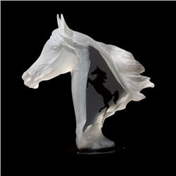 "Kitty Cantrell, ""Royal Arabian"" Limited Edition Mixed Media Lucite Sculpture with COA."