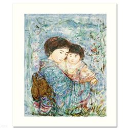 """Kyoko and Sanayuki"" Limited Edition Serigraph by Edna Hibel (1917-2014), Numbered and Hand Signed w"