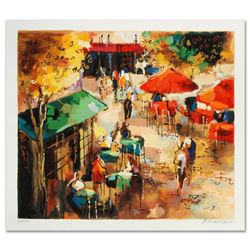 Street Scene  Limited Edition Serigraph by Michael Rozenvain, Hand Signed with Certificate of Authe