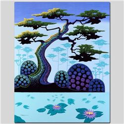 """Lotus by Moonlight"" Limited Edition Giclee on Canvas by Larissa Holt, Numbered and Signed. This pie"